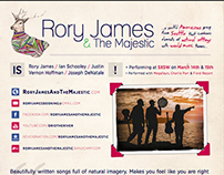 Rory James & The Majestic - Interactive One Sheet