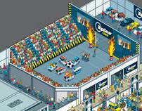 Top Gear Live - Venue Event Map Illustration