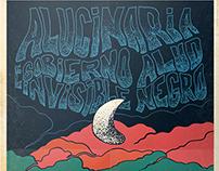 Poster. Alucinaria + el Gobierno Invisible + Alud Negro