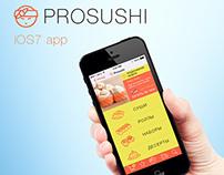 Prosushi iOS7 app