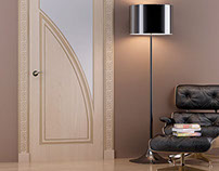 Render for catalogue new collection doors Woodman