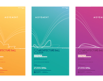Architecture Ball Poster Set