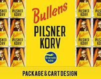 Bullens - Pilsner Korv Package/Cart Designs