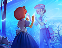 Ghost Tales - social game illustrations