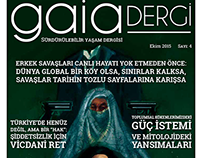 Gaia Dergi 4. Sayı Kapak Tasarımı