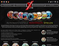 Automate Spiele X Website Design