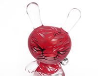 "Nearly Invisible Man - Custom 8"" clear resin dunny"