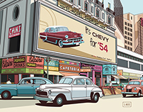 New York vector, 50s