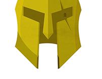300 Leonidas' Helmet minimalist Poster