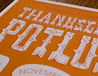 Annual Thanksgiving Potluck Invitations