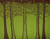Indoor Forest Mural