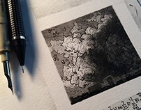 Small Drawings in Ink Summer 2014