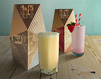 Strawberry and vanilla milk packaging