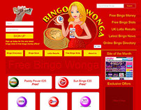 Bingo website design