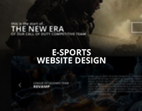 The New Era - eSports Website Design