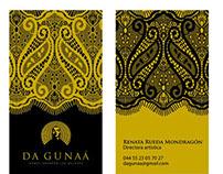 Daguna, tarjetas de presentación