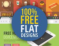 Freebie Flat Designs