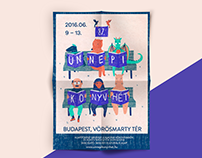 87th Book festival poster Budapest