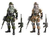 Soldiers characters