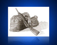 Bag & Gun Illustration