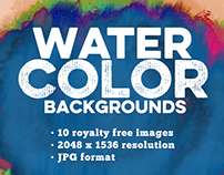 #PackADay - 7/21/14 Watercolor Backgrounds