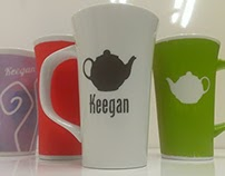 Keegan's Hot Tea painted mugs