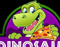 Logo + Character Dinosaur Pizza