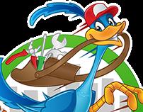 Logo + Character Roadrunner