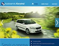 Web design for Autoservis Korytná