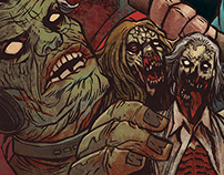 """Z for Zombie"" fiction book illustration and design"