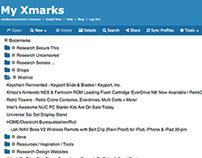 Xmarks UI Redesign