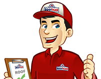 Logo + Character The Roof Man