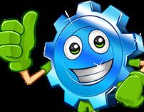 Logo + Character Top Gear Car Wash