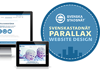 Svenska Stadnät Parallax Website Design