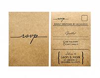Calligraphy wedding invitation and RSVP set