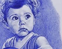 La Nueva Menina (ballpoint pen portrait)