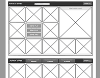 Casino Games Wireframe