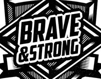 ///BRAVE&STRONG-EMBLEM///