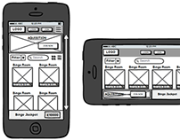 Mobile Gaming Site Wireframes