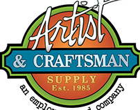 Artist and Craftsman Supply Facebook Graphic Design