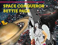 Space Conqueror Bettie Page | Recorte e Ilustração