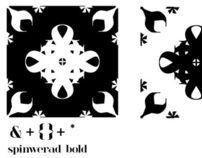 patterns made of Spinwerad Bold Glyphs