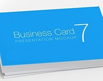 Real Life Business Card Mockup