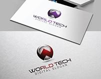 Letter W 3D Tech Logo