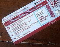 Wedding Card simil Boarding pass