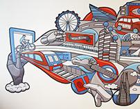 Manning Gottlieb OMD Mural