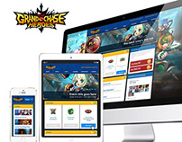 Grand Chase - Game site redesign proposal