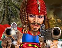 Jack Sparrow de Supermán