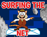 "Thom Cat in ""Surfing the Net"""