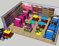 DUTY FREE Toys Section Design Perspective